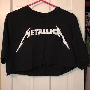 Metallica Crop T Shirt